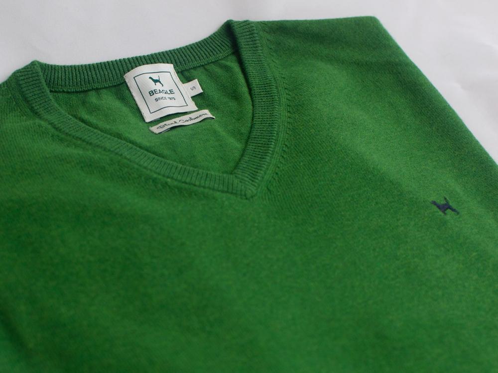 The Cashmere Cotton Blend V Neck Lima
